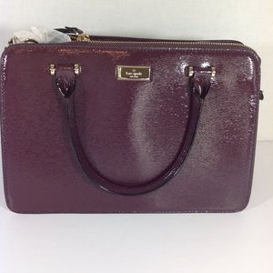 Kate Spade Maroon purse w/ detachable strap
